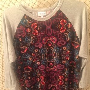 LulaRoe 3/4 sleeves shirt.